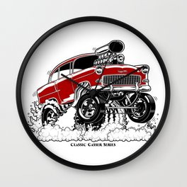 55 Gasser Series REV-2 RED Wall Clock
