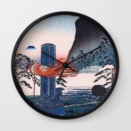 Historic Spots At Urashima, Kanagawa, Tokaido Famous Sights - Digital Remastered Edition Wall Clock