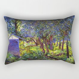 Giverny Blossoming Lilac Landscape, in Monet's Garden by Lillian Cabot Perry Rectangular Pillow