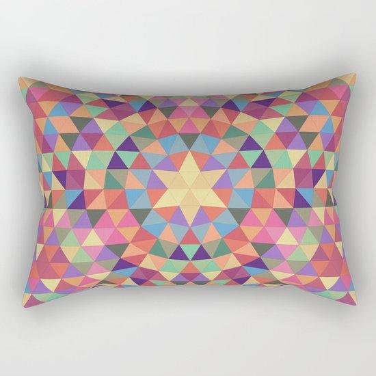 Happy triangle mandala Rectangular Pillow