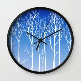 Cottonwood (white) Wall Clock