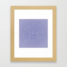 Love Where You Poo - Periwinkle Framed Art Print