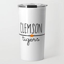 Clemson arrow Travel Mug