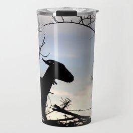 Goat silhouette Travel Mug