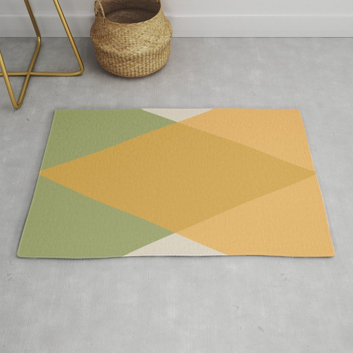 Mid Century - Yellow and Green Rug