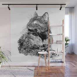 Fluffy, drawing Wall Mural
