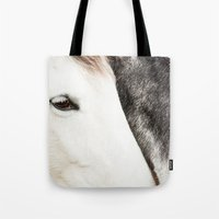 horses Tote Bags featuring Horses by MarianaLage