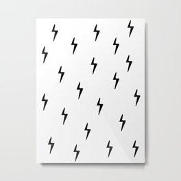 Little Lightning Bolts Metal Print