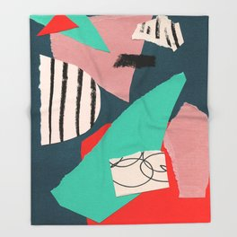 abstract paper collage Throw Blanket