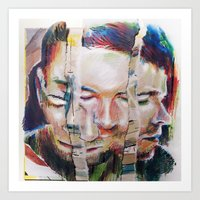 selfie Art Prints featuring Selfie by robotrake