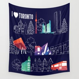 I heart Toronto (navy) Wall Tapestry