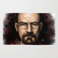 walter white Area & Throw Rugs featuring Walter White by NikkiBeth