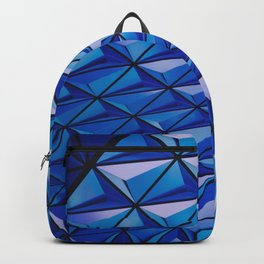 Blue Geometric Pattern Backpack