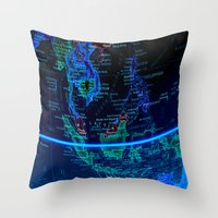 asia Throw Pillows featuring Southeast Asia by Jeffrey J. Irwin