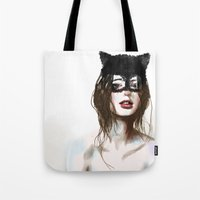 superheroes Tote Bags featuring Superheroes SF by Dnzsea