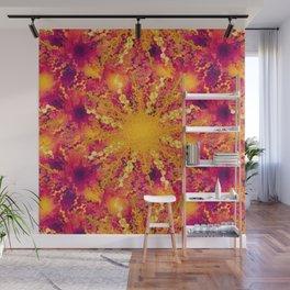 Summer Heat golden sun Wall Mural