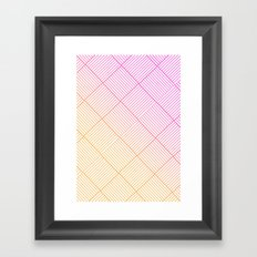 Woven Diamonds in Pink and Orange Framed Art Print