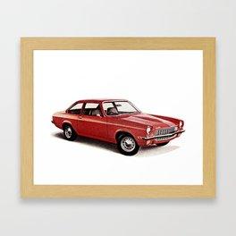 1970's Chevy Vega Framed Art Print