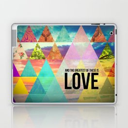 """1 Corinthians 13:13 """"And the greatest of these is Love"""" Laptop & iPad Skin"""