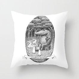 cerebrum non habet Throw Pillow