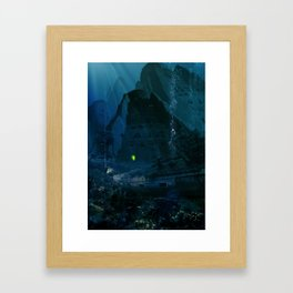H.P. Lovecraft The Temple Framed Art Print