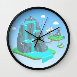 Crystal Mountain Wall Clock