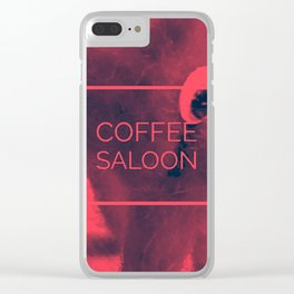 Coffee Saloon Clear iPhone Case