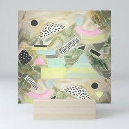 Pastel Garden Geo Milano Mini Art Print