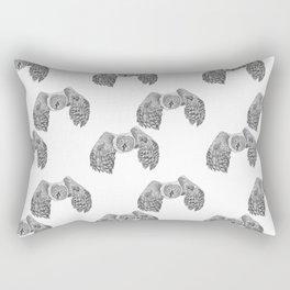 Flying Great Grey Owl pattern Rectangular Pillow
