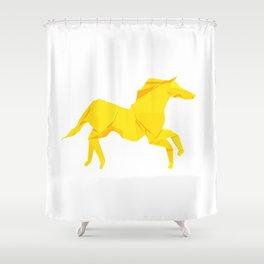 Origami Stallion Shower Curtain