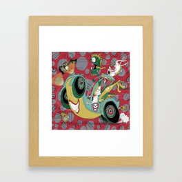 get in the car, we're goin' for a ride! Framed Art Print