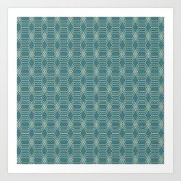 hopscotch-hex navajo Art Print