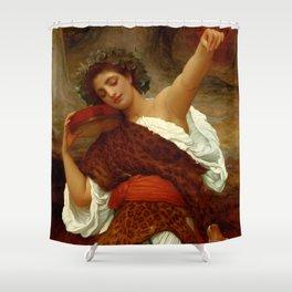 "Frederic Leighton ""Bacchante"" Shower Curtain"