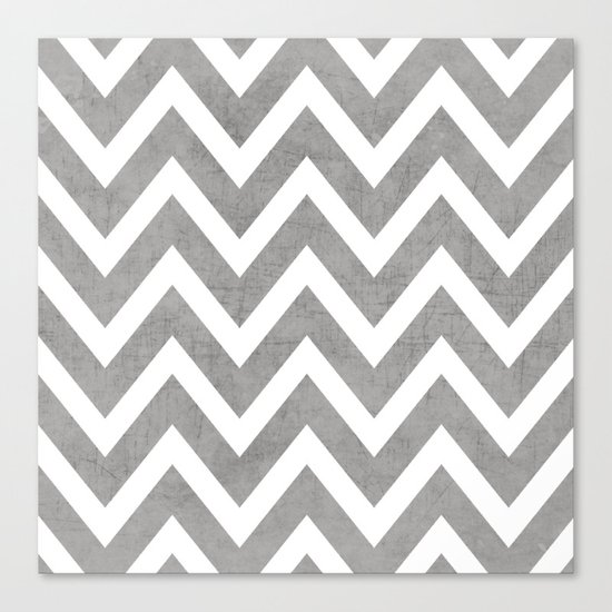 gray chevron Canvas Print