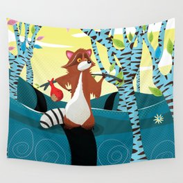 Raccoon Going for a walk.! Wall Tapestry