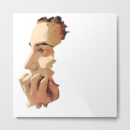 PolyHead Profile Metal Print
