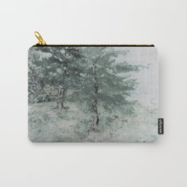 Front Yard NY GreyScale Watercolor Monoprint Carry-All Pouch