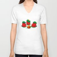 strawberry V-neck T-shirts featuring Strawberry by DanBee Kim