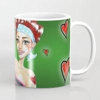 valentina Mugs featuring Valentina by Lagoonartastic