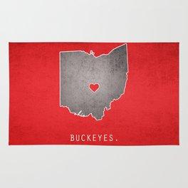 Ohio State Buckeyes Rug