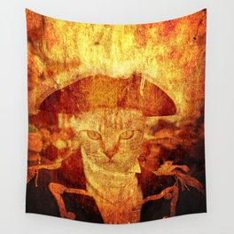 Cat captain Wall Tapestry