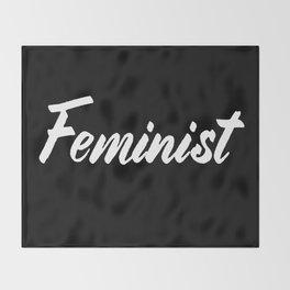 Feminist (on black) Throw Blanket
