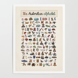 The Australian Alphabet Poster