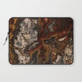 Twisted patterns of brown, red and beige stone Laptop Sleeve