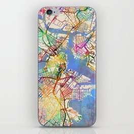 Boston Massachusetts Street Map iPhone Skin