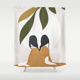 Watching the Sunset Shower Curtain