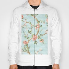 Rose bushes have thorns -Roses Flowers Floral Vintage Retro on Aqua #Society6 Hoody