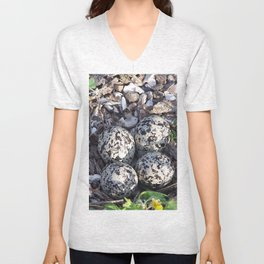 Killdeer eggs in nest Unisex V-Neck