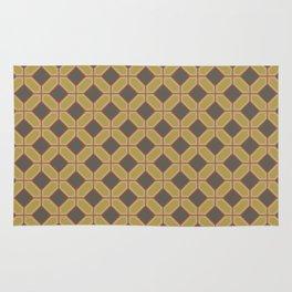 Chicken and Waffles Retro Geometric Pattern Design Rug