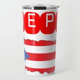 WEPA Puerto Rican Flag Gift for Men & Women Travel Mug